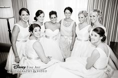Make sure to get a photo with your bridesmaids right after you're done getting ready #Disney #wedding #bridesmaids