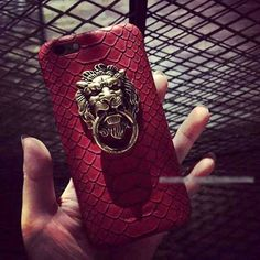 serpentin muster mit goldem lionhead leder handyhlle fr iphone55s6 - Handyhullen Muster