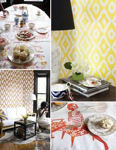 Yellow wall paper