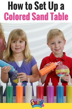 Learn what supplies you need to set up your own colored sand table. Colored sand is perfect for birthday parties, themed parties, summer camp, church, VBS and more!
