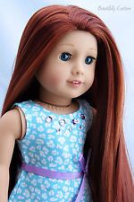 Custom OOAK American Girl Doll *Blue Eyes, Extra Long Red Hair with Highlights*
