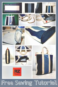 Recycle your jeans into this classic nautical-style tote bag with this free sewing tutorial.
