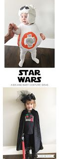 Star Wars Kids Costume Ideas: Girls Darth Vader Costume and Baby BB-8 Costume. Check them out on the blog! | Designs by TiffanyCo