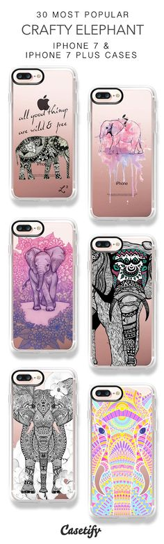 30 Most Popular Crafty Elephant Protective iPhone 7 Cases and iPhone 7 Plus Cases. More Pattern iPhone case here > https://www.casetify.com/collections/top_100_designs#/?vc=nElTkrGXjy