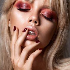 Skin Glowing Makeup Eyes 58 Ideas For 2019 Party Makeup, Eye Makeup, Hair Makeup, Photo Portrait, Female Portrait, Girl Face, Woman Face, Beauté Blonde, Art Visage