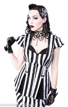 Restyle-Vintage-Bluse-Shirt-Rockabilly-Gothic-Lolita-Pin-Up-Burlesque-Long-R5