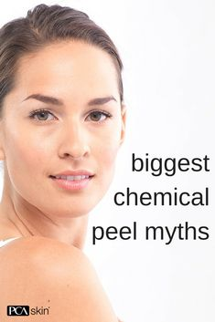 Getting a chemical doesn't mean you'll leave your treatment with red, irritated skin, in fact, you'll leave with a healthy glow.   That and other chemical peel myths.