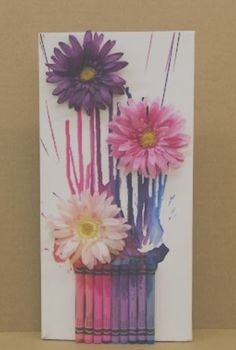 Melted Crayon Purple Bouquet