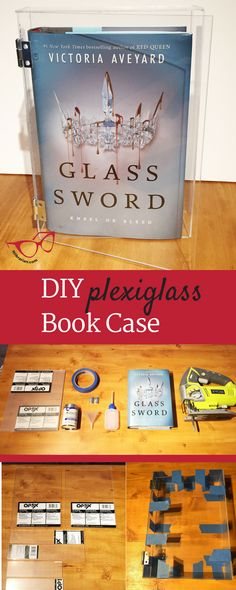 Learn how to make a DIY Plexiglass Book Case inspired by Glass Sword in an afternoon. A modern and stylish way to display your most prized books.