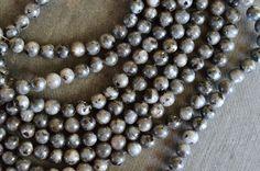 8mm Labradorite Smooth Round Beads, Shimmery Gray Gemstone Beads Stone Beads, (12)  Labradorite Round Beads Black Gray Stone Beads by TheBeadBandit on Etsy