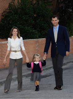 Princess Letizia - Leonor of Spain Attends First Day of School