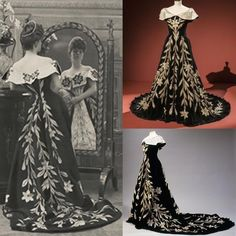 """For those spending any time in New York City between now and January @museumatfit's Proust's Muse: The Countess Greffulhe is a must! Yesterday, I had the pleasure of seeing the exhibition that celebrates the fashionable French beauty Èlisabeth de Caraman-Chimay, the Countess Greffulhe. The so-called """"Lily Dress"""" by the House of Worth, circa 1896 and featured here, is one of many examples of superb craftsmanship and impeccable taste on loan from the Palais Galliera, whose own exhibition on…"""