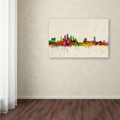 Tampa, Florida by Michael Tompsett Painting Print on Wrapped Canvas