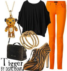 Tigger (Winnie the Pooh) Inspired Outfit. Everything but the purse and shoes please :P
