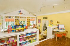Kids Craft Room: 2010 Atlanta Symphony Show House & Gardens | Chic & Cheap Nursery™ --like this idea for playroom/craft room/schoolroom