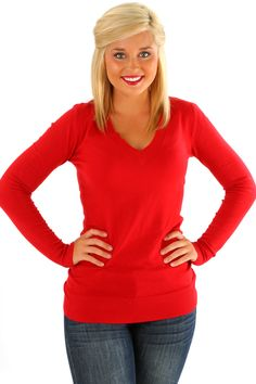 The Simple Life Sweater: Red