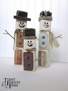 Tutorial to create this snowman family