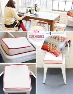 Making box cushions for the studio | Coletterie
