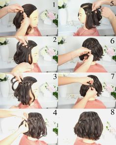 Braids Step By Step, Step By Step Hairstyles, Braids For Short Hair, Short Hair Styles, Prom Hair, Hair Goals, My Hair, Hair Care, Waterfall