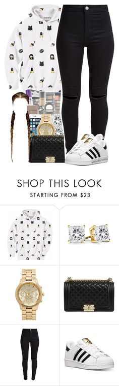 """"""""""" by yeauxbriana ❤ liked on Polyvore featuring Aloha From Deer, Forever New, New Look and adidas"""