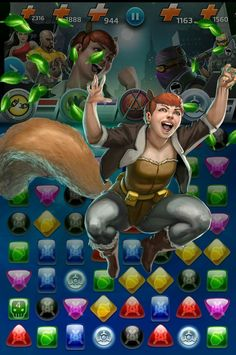 #Squirrel #Girl #Fan #Art. Squirrel Girl (Unbeatable) Nuts From Above Move, In: Marvel Puzzle Quest!) By: AMADEUS CHO! (THE * 5 * STÅR * ÅWARD * OF: * AW YEAH, IT'S MAJOR ÅWESOMENESS!!!™)[THANK Ü 4 PINNING<·><]<©>ÅÅÅ+(OB4E)