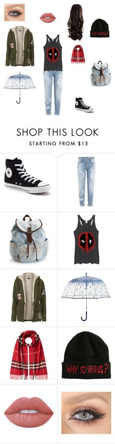 """""""Choe #1"""" by crvertelo on Polyvore featuring moda, Converse, Dsquared2, Aéropostale, Fifth Sun, Topshop, Vera Bradley, Burberry e Lime Crime"""
