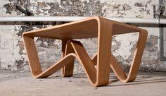 Woodwaves lounge table oak veneer. www.fimbuldesign.no Magazine Rack, Lounge, Storage, Interior, Table, Furniture, Design, Home Decor, Airport Lounge