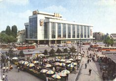 Magazinul Unirea & Piata Unirii, Bucuresti 1980, Romania Socialist State, Socialism, Communism, Warsaw Pact, Central And Eastern Europe, Old City, Old Pictures, Time Travel, Alter