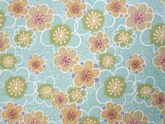 2924 - Japanese Kimono Cherry Blossom Floral Chirimen Crepe Fabric with Iron-On Adhesive - 50 Inch (Width) x 1/2 Yard (Length). $8.00, via Etsy.