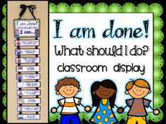 First Grade Fancy: I'm done! Now what? {Famous words}