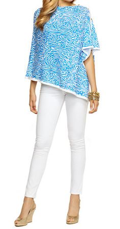 Lilly Pulitzer Printed Harp Wrap- easy throw on, chic