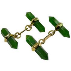 Jona Jade Gold Prism Bar Cufflinks