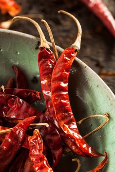 organic dried red hot peppers #spices #foodphotography