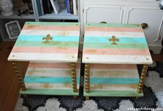 DIY Projects : UGLY End Tables Get a Chic Makeover + Tutorial | Arts and Classy