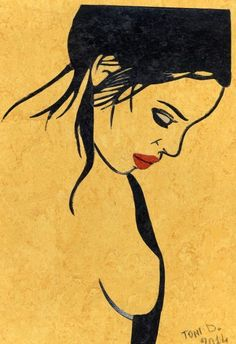 Un quadro fatto con pezzi di linoleum di Tony's Island su DaWanda.com
