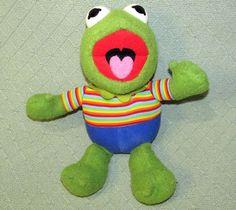 Vintage Hasbro Softies KERMIT Muppet Babies Plush Stuffed Animal Toy TAIWAN #Hasbro Muppet Babies, Stuff To Do, Fun Stuff, Kermit, Softies, Pet Toys, Vintage Toys, Taiwan, Dinosaur Stuffed Animal