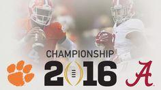 2015-2016 National Championship: Alabama vs. Clemson schedule, updates, fun stuff and more - SBNation.com
