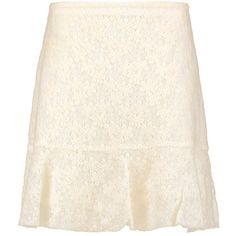 See by Chloé - Felted Lace Mini Skirt ($99) ❤ liked on Polyvore featuring skirts, mini skirts, ecru, white short skirt, short skirts, see by chloé, lace skirts and lace miniskirts
