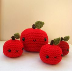 One little amigurumi apple by anapaulaoli on Etsy, $10.00