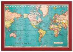 Vintage nystrom world map raised markable 3d surface classroom cork board world map gumiabroncs Choice Image