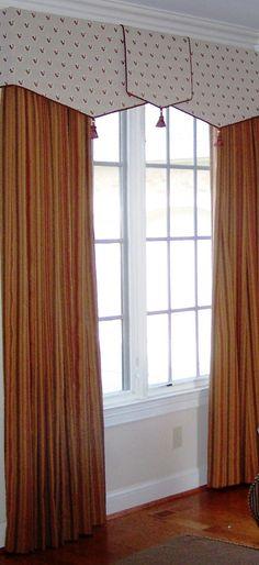 soft cornice with pelmet over panels