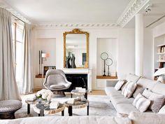 Воздушный интерьер квартиры в Париже (декоратор Стефан Оливье)