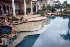 beach entry pool designs   boerne lighted pool boerne pool and waterfall boerne waterfall pool ...