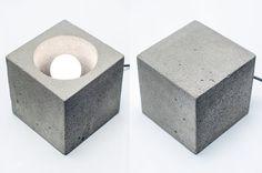 lámpara DIMMER concreto Q 41 hechos a mano. Lámpara de por dtchss