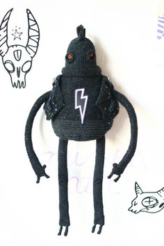 Glam_Burdened by fingers ОП! knitted interior toy with frame by…