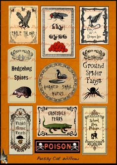 Scary Halloween Labels