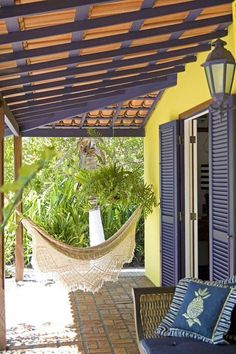 Zening life: 121 - Para meditação - For meditation Tropical Architecture, Architecture Design, Outdoor Spaces, Outdoor Living, Outdoor Decor, Pergola, Style Rustique, Villa, Traditional House