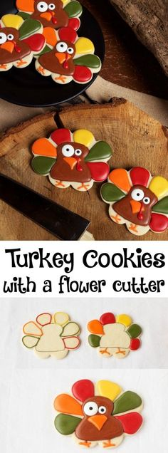 Super Simple Turkey Cookies | The Bearfoot Baker