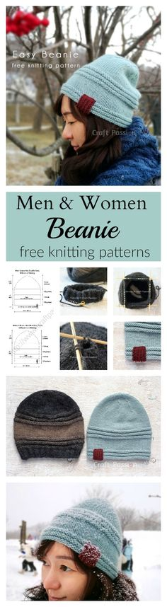 Can't get enough beanie for the cold days? Here is an easy beanie knitting pattern (men & women designs) to whip up in a day.
