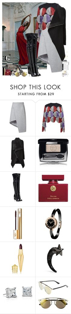 """""""The Future: The 'Royal' Joker"""" by eleonoragocevska ❤ liked on Polyvore featuring Chanel, Thierry Mugler, Marco de Vincenzo, Rick Owens, Givenchy, Dolce&Gabbana, Yves Saint Laurent, Bulgari, Christian Louboutin and Sergio Rossi"""